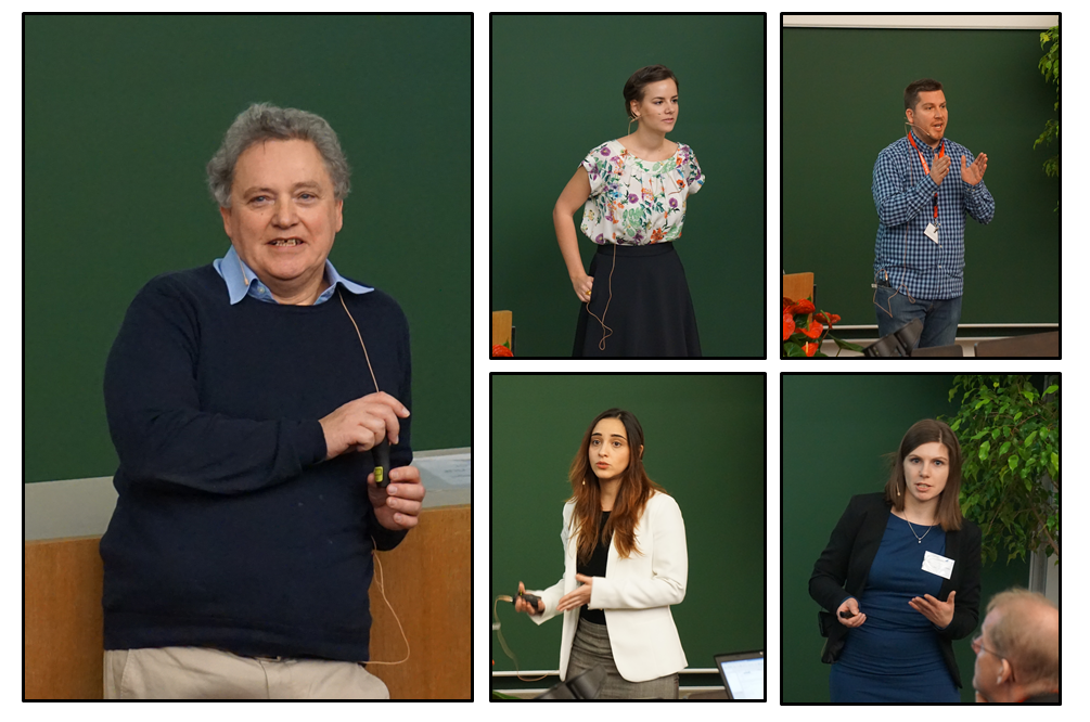 PathChooser Coordinator Kenneth Dawson and fellows Anne Iltzsche, Xabier Murgia, Martina Tuttolomondo and Diana Hudecz during their talks at the Biobarriers. Pictures by Simon Raesch.